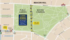 T Boston Map by Transportation To Start Line