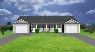 Garage Plans With Porch by Duplex Plans By Plansource Inc