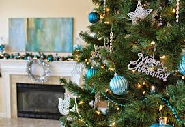 Christmas Tree Decorations Blue And Silver Carolina On My Mind Blue And Silver Christmas