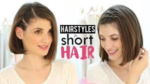 hairstyles for short hair tutorial youtube
