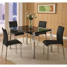 Stefan HiGloss Black Dining Table And  Chairs - Black dining table for 4