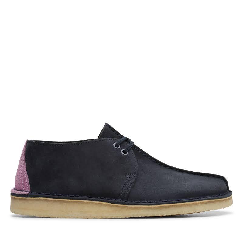 Clarks Desert Trek Blue Suede Casual Lace Up Oxfords Shoes
