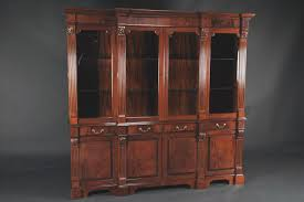 Kitchen China Cabinets Mahogany China Cabinet High End Antique Reproduction Breakfront