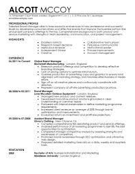project management resume example marketing resume examples marketing sample resumes livecareer brand manager resume example