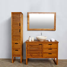 bahtroom impressive teak bathroom cabinets and interesting bowl