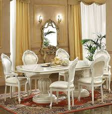leonardo dining set ivory table china side and arm chairs