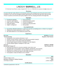 Legal Resume Sample by Best Attorney Resume Example Livecareer