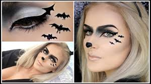 easy bat makeup cute halloween animal look youtube
