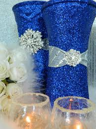 Silver Centerpieces For Table Blue And Silver Wedding Ideas Wedding Decorations Silver