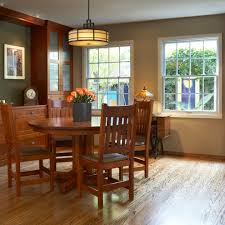 1908 arts crafts dining room with built in buffet and mission