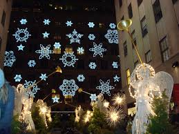 top of the arch christmas in rockefeller center new york city