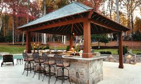 outdoor kitchen with bar design tool pool pergola plans deck