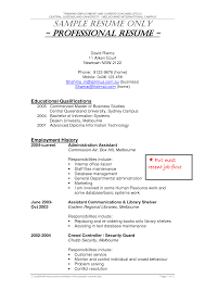 Liaison Resume Sample by Security Guard Resume Sample Berathen Com