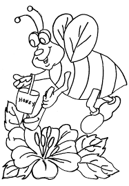 honey bee coloring pages free to print coloringstar