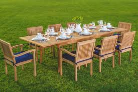 Discount Teak Furniture Amazon Com New 9 Pc Luxurious Grade A Teak Dining Set 94