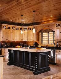 Black Kitchen Designs Photos Photos Of A Modern Log Cabin House Kitchen Design Log Cabin