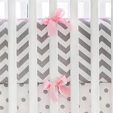 gray and pink chevron crib bumper chevron crib bumper gray