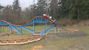 oak harbor dad builds backyard roller coaster for son king5 com