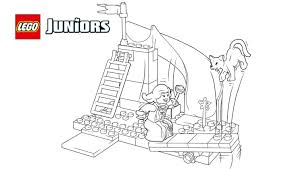 lego juniors princess playtime coloring page coloring pages