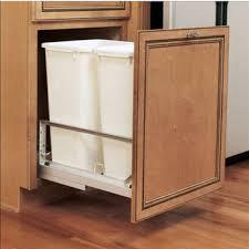 pull out u0026 built in trash cans cabinet slide out u0026 under sink