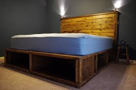 Build Diy Platform Bed by How To Buildstorage Bed Frame Build And King Platform With Storage