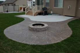 Fire Pit Pad by Attractive Concrete Patio Ideas With Fire Pit Concrete Patio Ideas