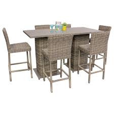 Patio Furniture Counter Height Table Sets - wicker pub table set 5 piece patio set design furnishings