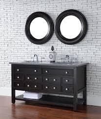 abstron 60 inch espresso double sink transitional bathroom vanity