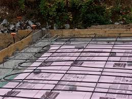 baling over framed floors instead of concrete slabs