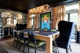 Pool Table In Dining Room by Masculine Pool Table Dining Room With Art Deco Elements 2015