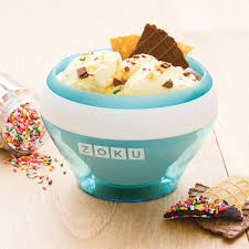amazon com zoku teal ice cream maker instant ice cream maker