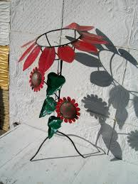 Gazing Ball Fountain Wrought Iron Sunflower Gazing Ball Stand