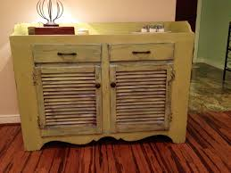 Chalk Paint Furniture Ideas by Chalk Paint Distressed Cabinet Furniture With Shutter Doors And