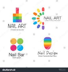 nail art logo maker best nail 2017 vector logotype design for