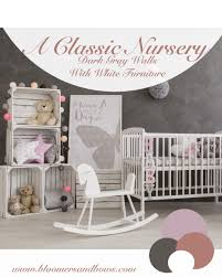 beautiful u0026 classic gray white u0026 pink nursery inspiration