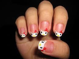 white simple hello kitty acrylic nail designs http