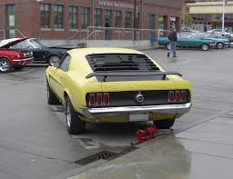 1969 Mustang Black Jade Bright Yellow 69 Mustang Boss 302 Fastback U002769 Mustang