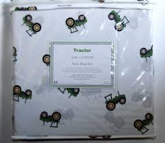 John Deere Kids Room Decor by Hillcrest Green Tractor 3pc Twin Bed Sheet Set 100 Cotton John