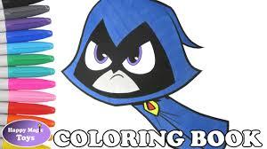teen titans go raven coloring book ttg raven coloring page