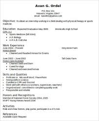 Therapist Resume Examples by Physical Therapy Resume 14477