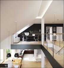 mezzanine home office interior design ideas