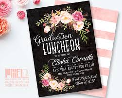 Invitation Cards For Graduation Bohemian Feathers U0026 Floral Wreath Graduation Party 5x7 Paper
