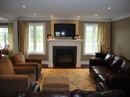 Greatroom Great Room With Windows Flanking Fireplace Furniture Placement