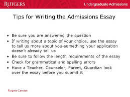 college essay examples for rutgers