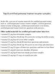 Sample Personal Resume by Personal Trainer Resume Template Sample Personal Trainer Resume