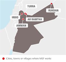Jordan Country Map Jordan Msf Usa