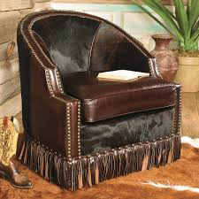 Cowboy Style Home Decor Houston Cowhide Leather Chair