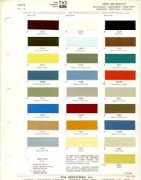Best Color Codes 1970 U0027s Ford Paint Charts Retro Rides