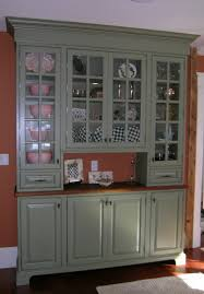 glass door hutch home decor kitchen astonishing green kitchen cabinets with glass