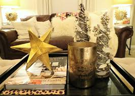 decorations metal accent coffee table christmas centerpiece